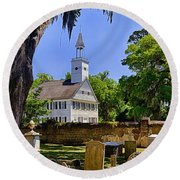 Midway Congregational Church Round Beach Towel