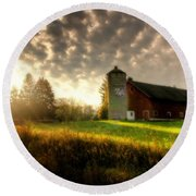 Midwest Morning Round Beach Towel