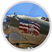 Mighty B-17 Fortress Round Beach Towel