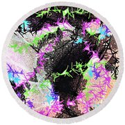 Mighty Mouse - Abstract Round Beach Towel