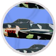 Migs In Formation Round Beach Towel