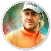 Miguel Angel Jimenez Round Beach Towel