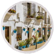 Mijas - Costa Del Sol   Spain Round Beach Towel
