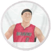 Mike Bibby Round Beach Towel