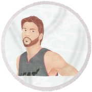 Mike Miller Round Beach Towel