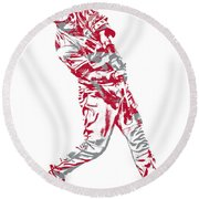 Mike Trout Los Angeles Angels Pixel Art 20 Round Beach Towel