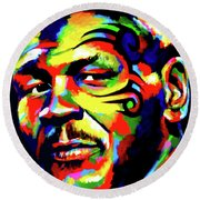 Mike Tyson Abstract Round Beach Towel
