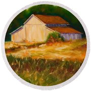 Mike's Barn Round Beach Towel