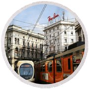 Milan Trolley 4 Round Beach Towel
