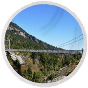 Mile-high Bridge Round Beach Towel