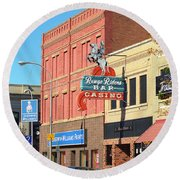 Miles City, Montana - Downtown Casino 2 Round Beach Towel