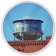 Miles City, Montana - Water Tower Round Beach Towel