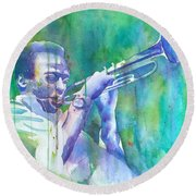 Miles Is Cool Round Beach Towel