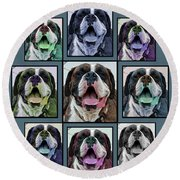 Miles Of Smiles Round Beach Towel by DigiArt Diaries by Vicky B Fuller