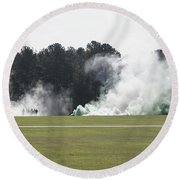 Military Celebrations  Round Beach Towel