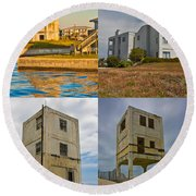 Military Observation Towers Operation Bumblebee Round Beach Towel