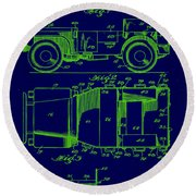Military Vehicle Body Patent Drawing 1e Round Beach Towel