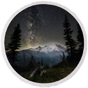 Milky Mountain Round Beach Towel