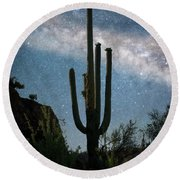 Milky Way 2 Round Beach Towel