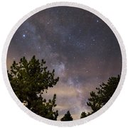 Milky Way I Round Beach Towel