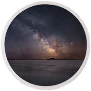 Milky Way In March, Sturgeon Bay Round Beach Towel