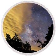 Milky Way Iv Round Beach Towel