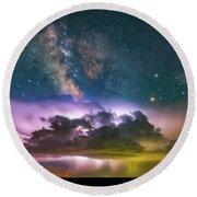 Milky Way Monsoon Round Beach Towel