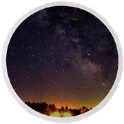 Milky Way, Moultonborough, Nh Round Beach Towel