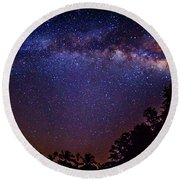 Milky Way Splendor Round Beach Towel