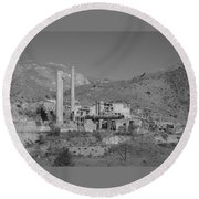 Mill And Stacks Round Beach Towel