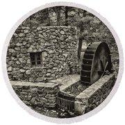 Mill Creek Water Wheel Round Beach Towel