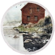Mill Pond Round Beach Towel