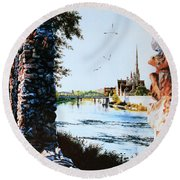 Mill Race Look-out Round Beach Towel