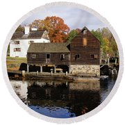 Mill Reflections Round Beach Towel