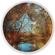 Mill - Walnford, Nj - Walnford Mill Round Beach Towel