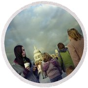 Millenium Bridge Round Beach Towel