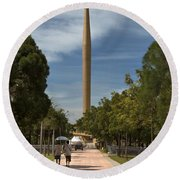 Millennium Monument Round Beach Towel