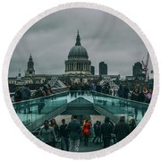 Millennium X St Paul's Round Beach Towel