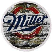 Miller Beer 5b Round Beach Towel