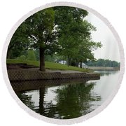 Miller Park Lake Round Beach Towel