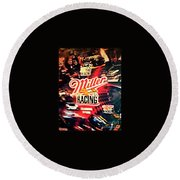 Miller Racing Sign 25th Year Round Beach Towel