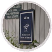 Miller Stable Round Beach Towel