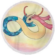 Milotic Round Beach Towel