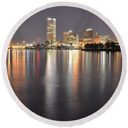 Milwaukee Skyline 2012 Round Beach Towel
