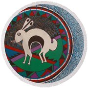 Mimbres Inspired #9a Round Beach Towel