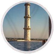 Minaret Round Beach Towel