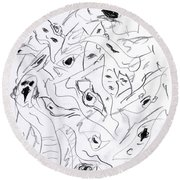 Mind In Motion 4 17042 Round Beach Towel