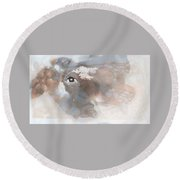 Mind's Eye In The Clouds Round Beach Towel