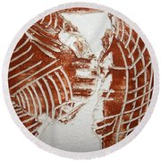 Minds Greeting - Tile Round Beach Towel