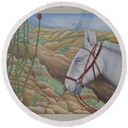 Miner's Companion Round Beach Towel